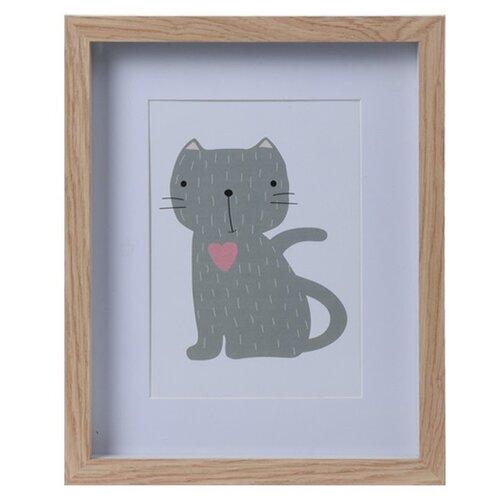 Dřevěný fotorámeček Hatu Kočka, 22,5 x 3 x 27,8 cm
