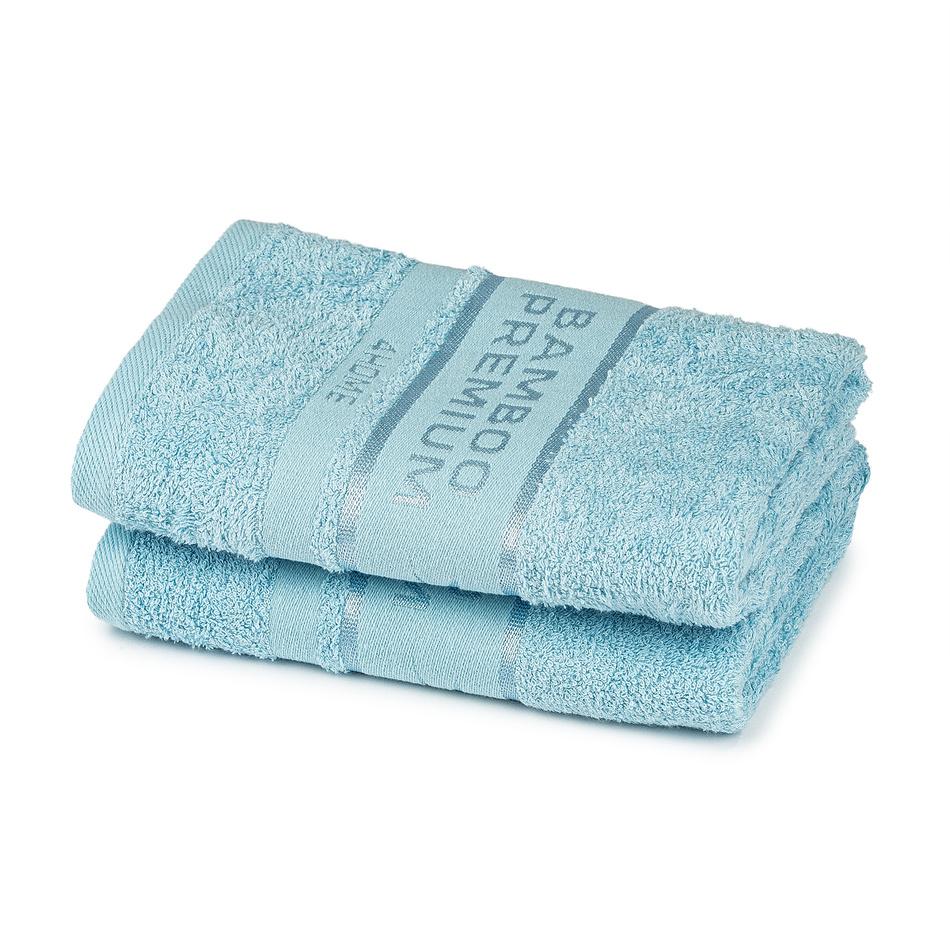4Home Bamboo Premium ručník světle modrá, 50 x 100 cm, sada 2 ks