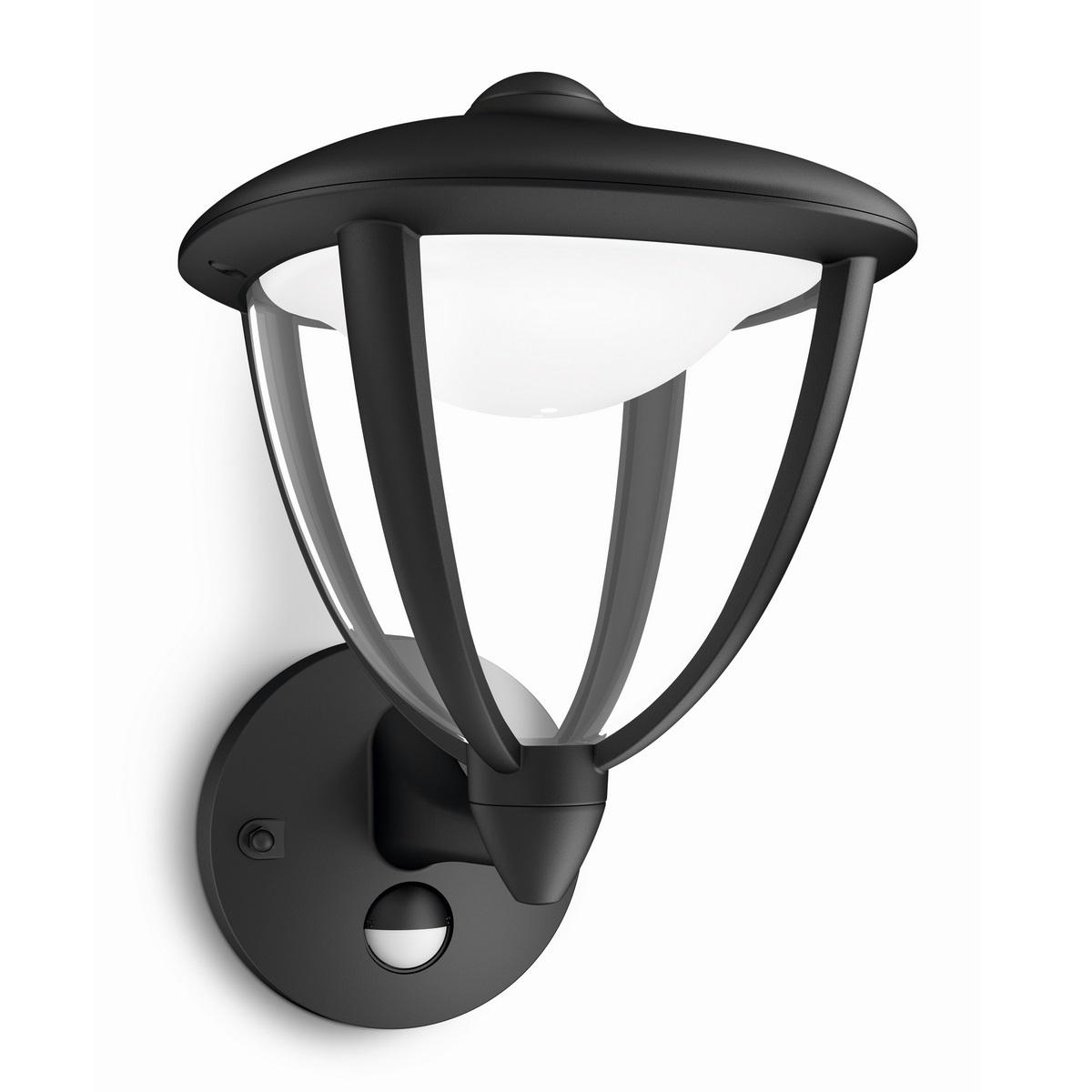 Philips 15479/30/16 Robin Venkovní nástěnné LED svítidlo 26 cm, černá