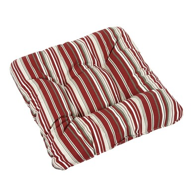 Sedák Ivo pruh červený, 40 x 40 cm, sada 2 ks
