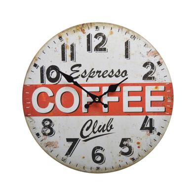 Nástěnné hodiny Express Coffee Club HLC1433