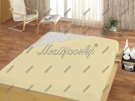 Cearşaf de pat pentru copii Matějovský jersey, gălbui, 60 x 120 cm