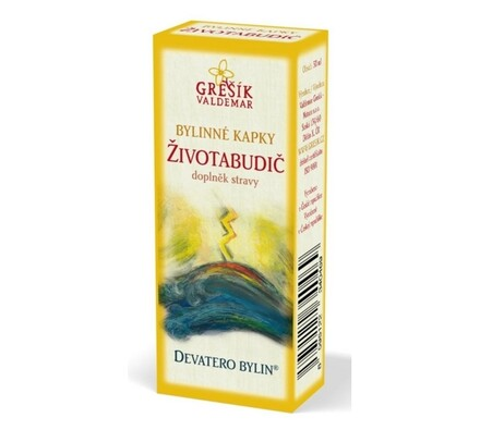 Bylinné kapky Grešík Životabudič, 50 ml