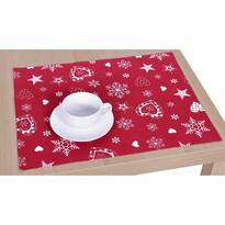 Vánoční prostírání červená, 33 x 45 cm