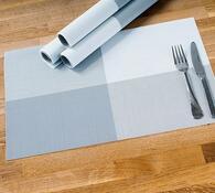 Prostírání DeLuxe šedá, 30 x 45 cm, sada 4 ks