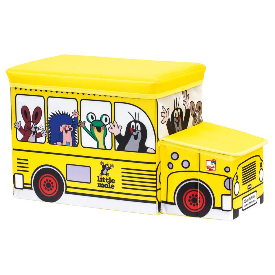 Fotografie Bino Krtek krabice na hračky - bus