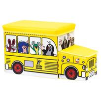Bino Kisvakond és busz tárolódoboz játékokrasárga,