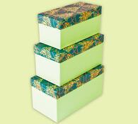 Dárkové krabičky, zelená