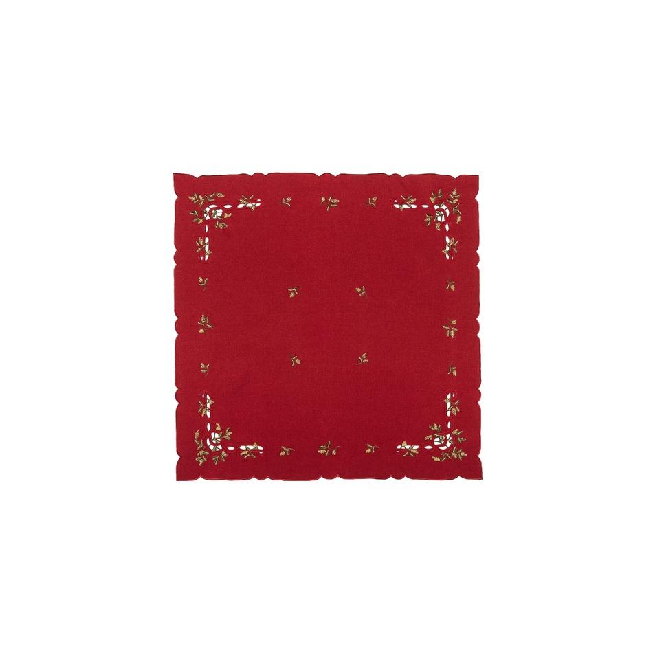 Forbyt Vianočný obrus imelo červená, 35 x 35 cm