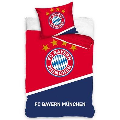 Bavlněné povlečení FC Bayern Mnichov Blau Boden, 140 x 200 cm, 70 x 80 cm