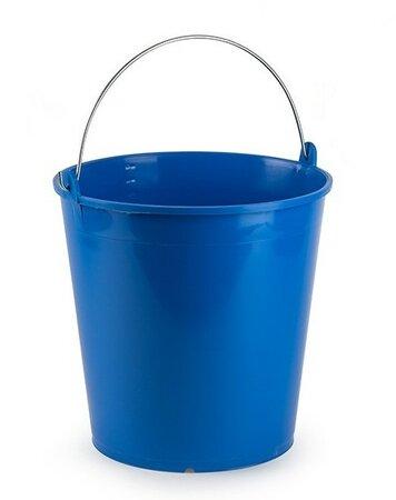 Kbelík SOLID s měrkou 15 litrů, modrá
