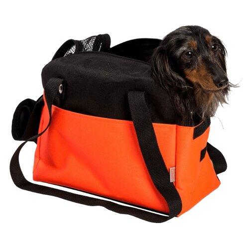 "Transp.Taška nylon""Boseň Lux""oranžovo/černá 30 cm"
