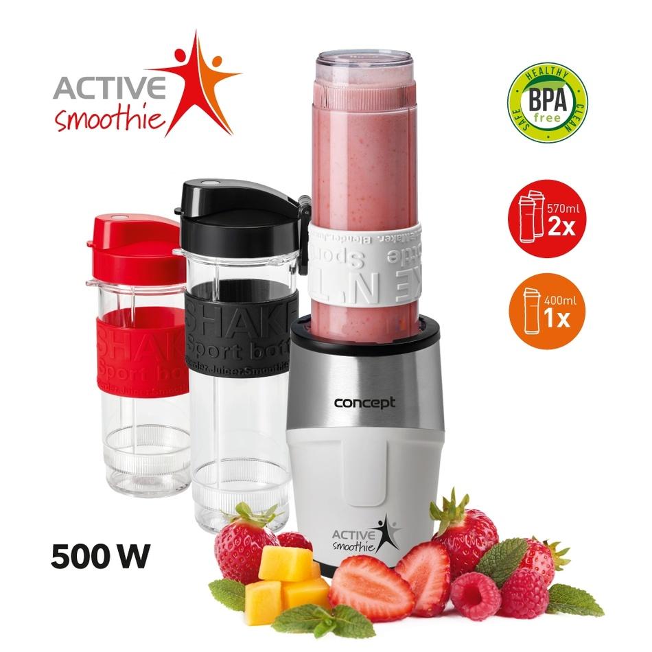 Fotografie Concept SM3380 Smoothie maker Active Smoothie 500 W WHITE 2 x 570 ml + 400 ml