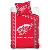 Lenjerie de pat NHL Detroit Red Wings Stripes, din bumbac, 140 x 200 cm, 70 x 90 cm