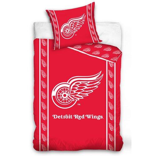 Lenjerie de pat NHL Detroit Red Wings Stripes, din bumbac, 140 x 200 cm, 70 x 90 cm