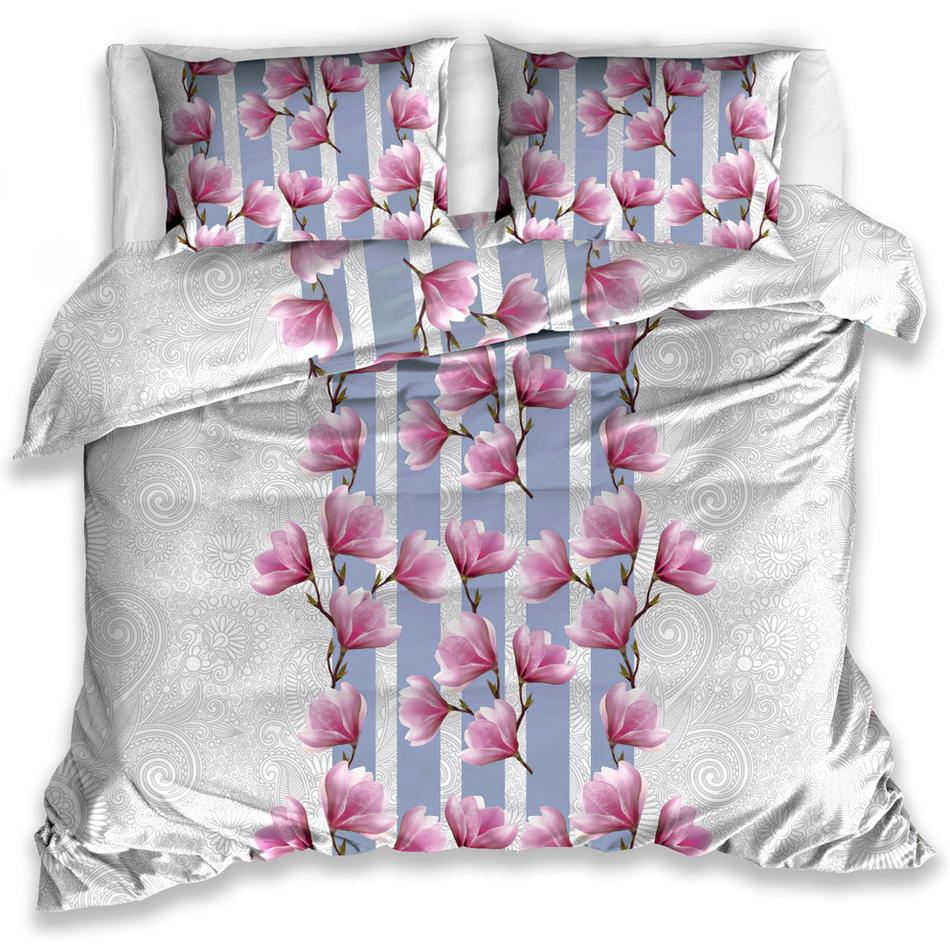 TipTrade Bavlněné povlečení Magnolie, 220 x 200 cm, 2 ks 70 x 90 cm