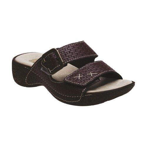 Dámske zdravotné papuče Santé, vínové, 42