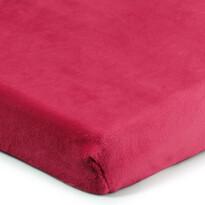 Cearșaf de pat 4Home microflanel, vișiniu, 90 x 200 cm
