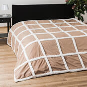 Přehoz na postel Beránek světle hnědá, 140 x 200 cm