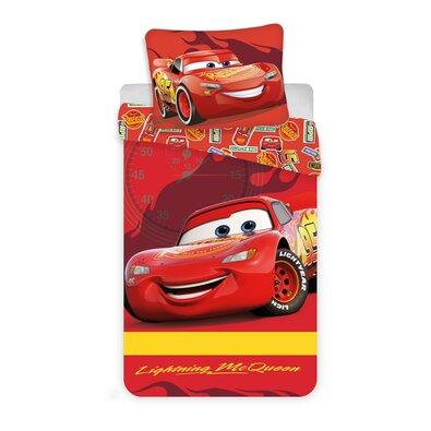 Jerry Fabrics Dětské bavlněné povlečení Cars McQueen baby, 100 x 135 cm, 40 x 60 cm
