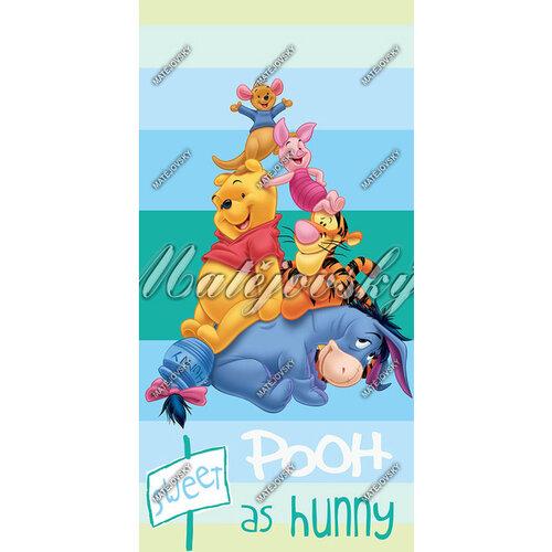Plážová osuška Matějovský Medvídek Pú blue, 75 x 150 cm