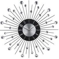 Zegar ścienny z kryształkami