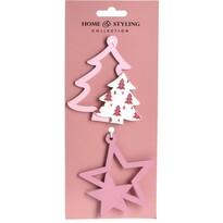 Set decorațiuni Crăciun Tree and star, 2 buc.