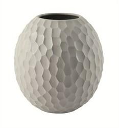 ASA Selection váza Carve 16 cm světle šedá