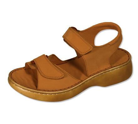 Orto Plus Dámské sandály se suchými zipy vel. 38 světle hnědé