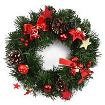 Wieniec bożonarodzeniowy Esponja czerwony, śr. 30 cm