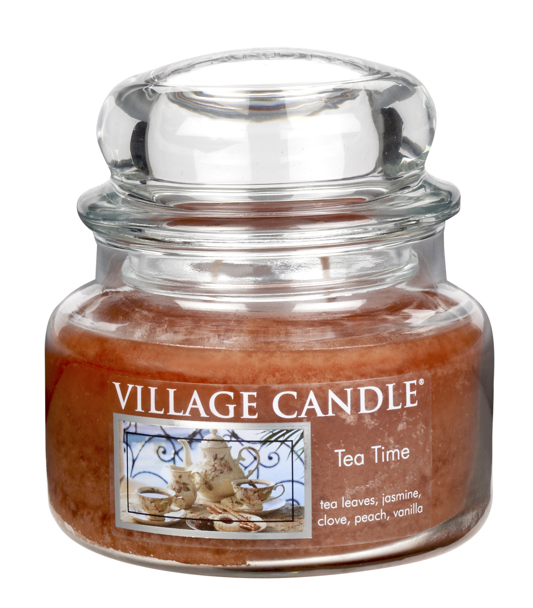 Village Candle Vonná svíčka ve skle, Čajový dýchánek - Tea Time, 269 g, 269 g