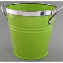 Osłonka blaszana na doniczkę zielona, śr. 12 cm
