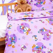 Dětské bavlněné povlečení do postýlky Donald a Daisy, 90 x 130 cm, 40 x 60 cm