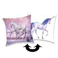 Jerry Fabrics Unicorn párna flitterekkel, 01, 40 x 40 cm