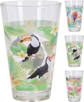 Koopman Sada pohárov tukan, papagáj, plameniak, 300 ml, 3 ks