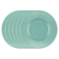 Florina Sada dezertních talířů Capri, 22 cm, 6 ks, tyrkysová