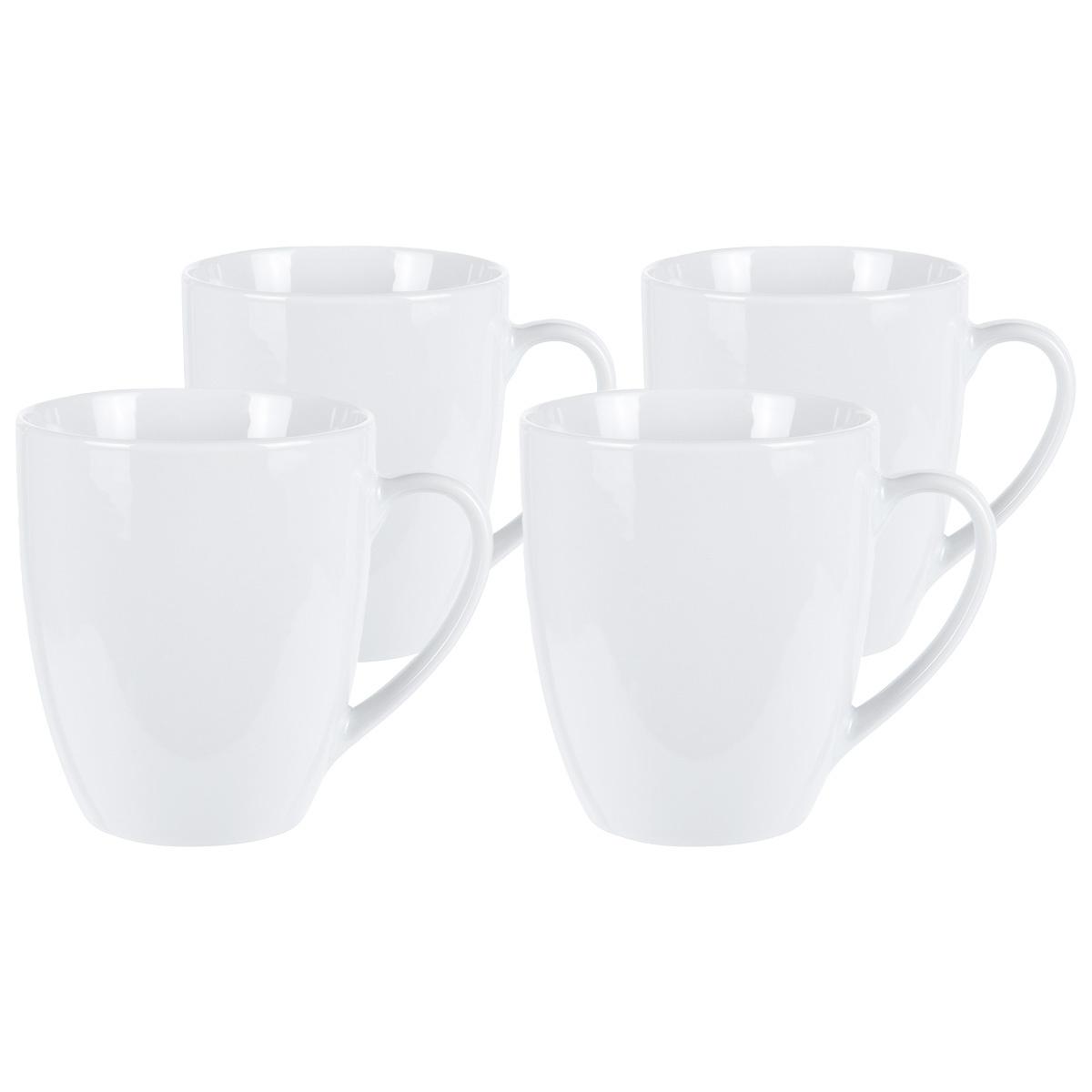 4dílná sada porcelánových hrnků White, 380 ml