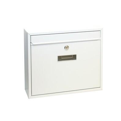 Cutie poştală din oţel Tarent, alb