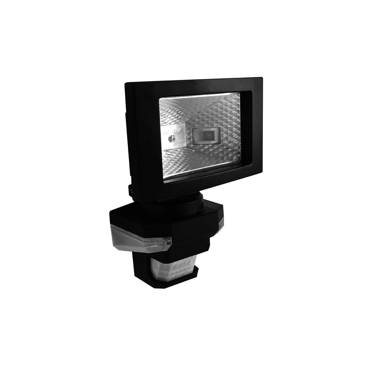 VANA S vonkajši reflektorové svetlo so senzoromLED prisvietením, čierna teplá biela