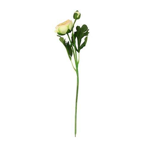 Umelá kvetina Ranunculus, biela