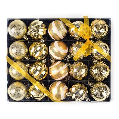 Luxusní set vánočních koulí 20 ks