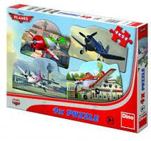 Puzzle Letadla Dino Toys, 4 x 54 dílků