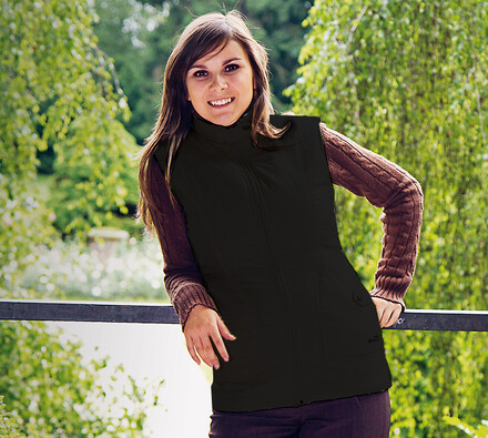 Prošívaná vesta, černá, XL