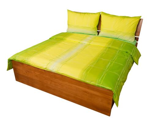 Bavlněné povlečení Hladina zelená, 220 x 200 cm, 2 ks 70 x 90 cm