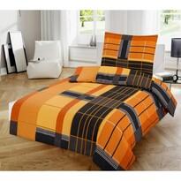 Orange pamut ágynemű, 140 x 200 cm, 70 x 90 cm
