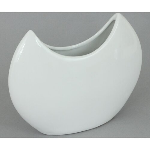 Keramická váza Fler bílá, 20,5 x 16 cm