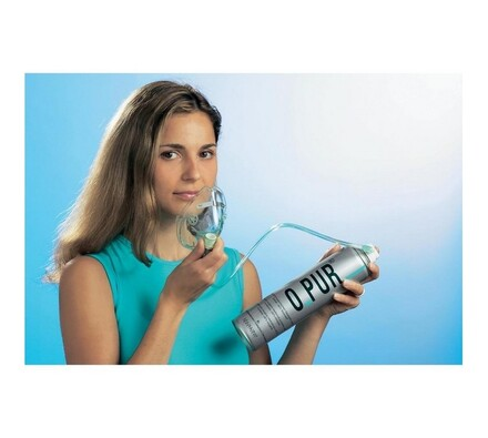 Kyslíková fľaša s kyslíkovou maskou