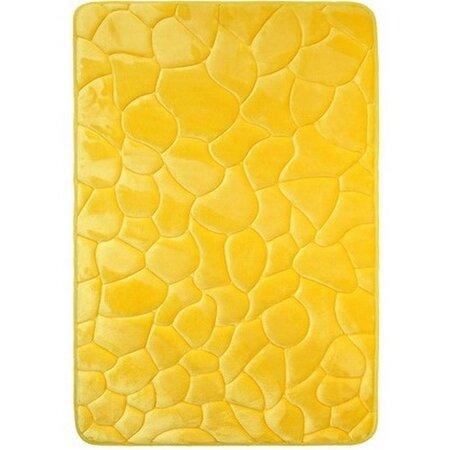Kövek fürdőszobaszőnyeg memóriahabbal sárga, 40 x 50 cm