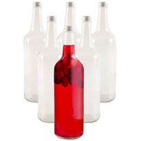 Set borcane din sticlă Orion Spirit, cu capac, 1 l, 6 buc.