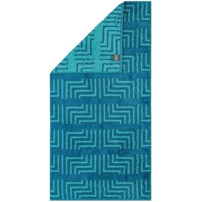 Cawö Frottier ručník Decor tyrkys, 30 x 50 cm